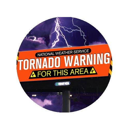 Tornado Warning Billboard